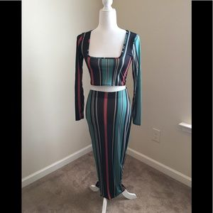 Outfit deal! NWT Stripe Maxi and Top Set!